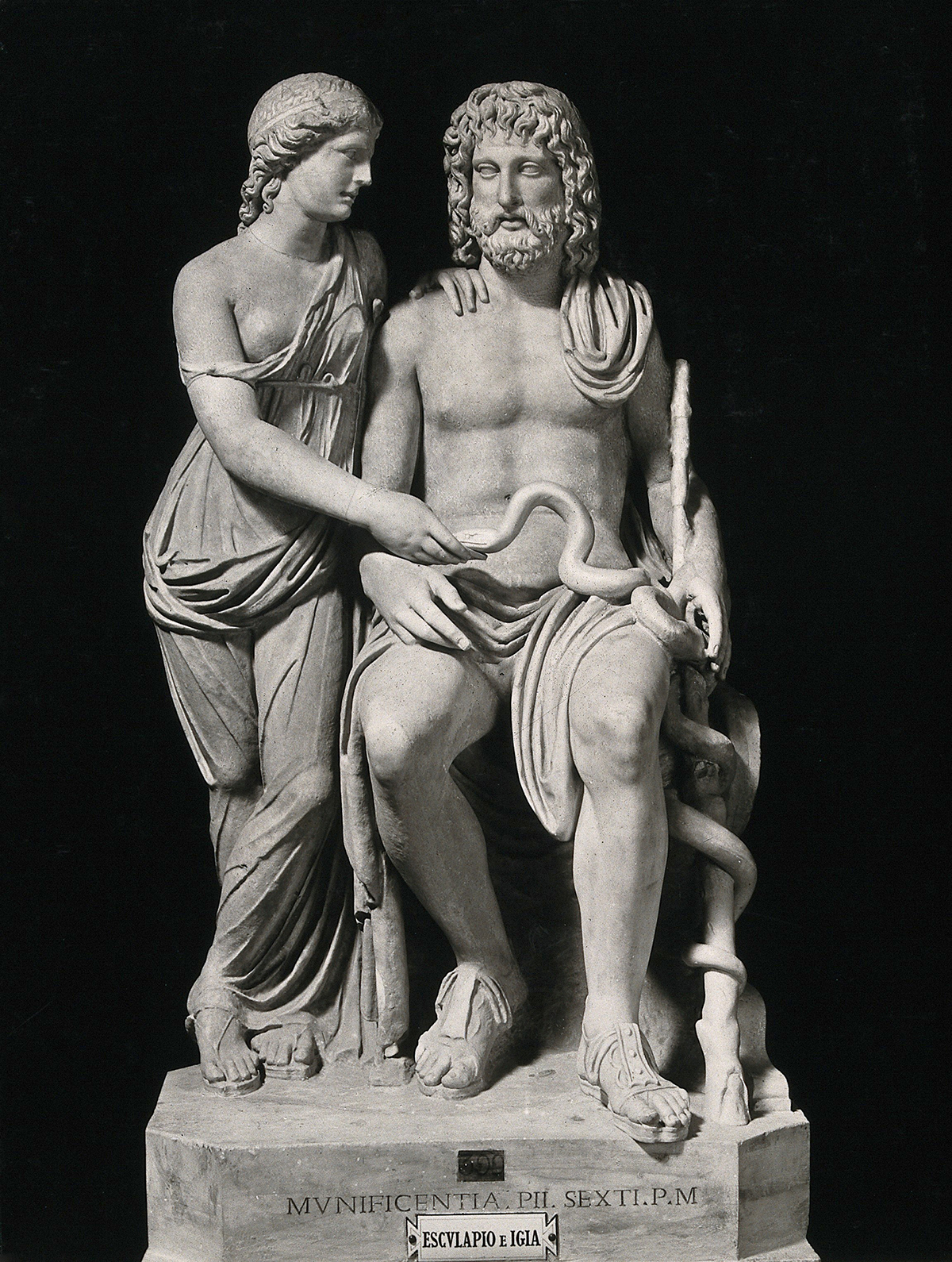 Asclepius and Hygeia